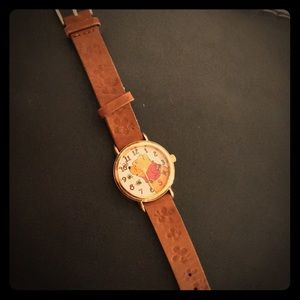 Vintage Timex Winnie the Pooh Leather Watch